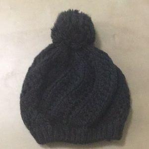 Accessories - Pom Knit Beanie, dark grey